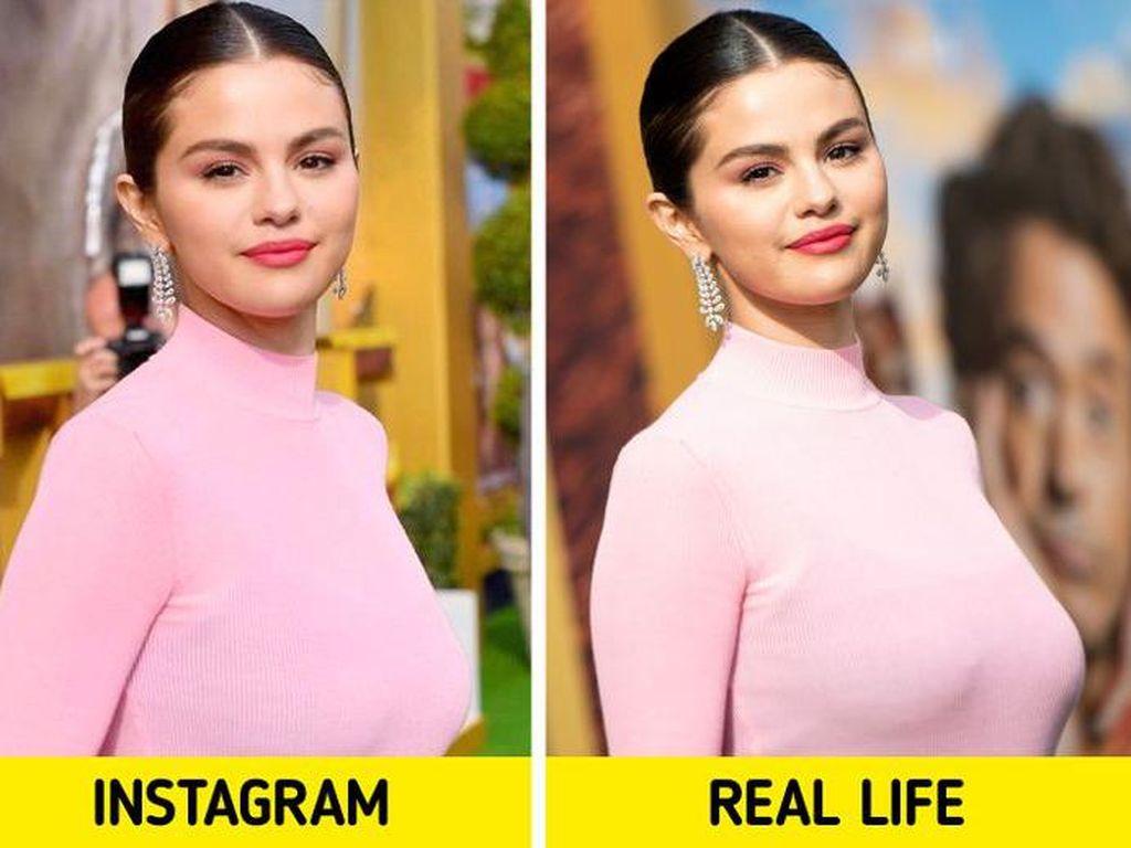 Perbedaan Foto Cantik Selebriti Dunia di Instagram Vs Realita