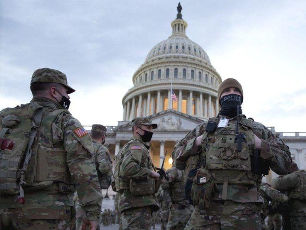 Jelang Pelantikan Joe Biden, Warga Washington DC Terkurung di Rumah
