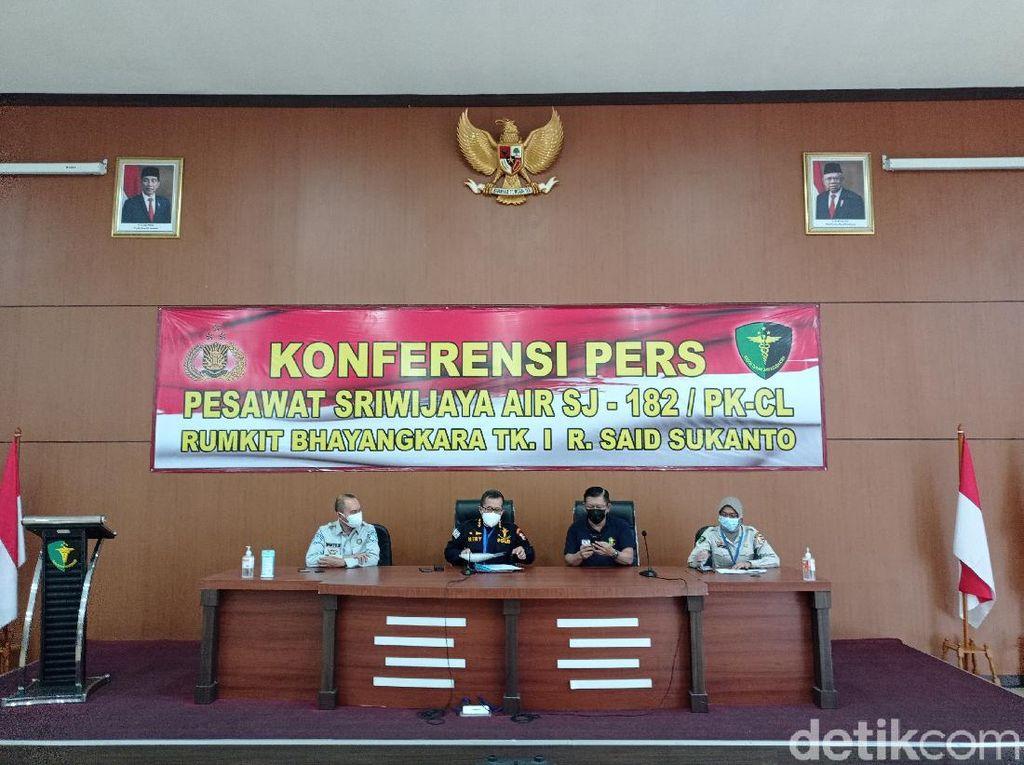 Tim DVI Polri Telah Terima 324 Kantong Jenazah Korban Sriwijaya Air SJ182