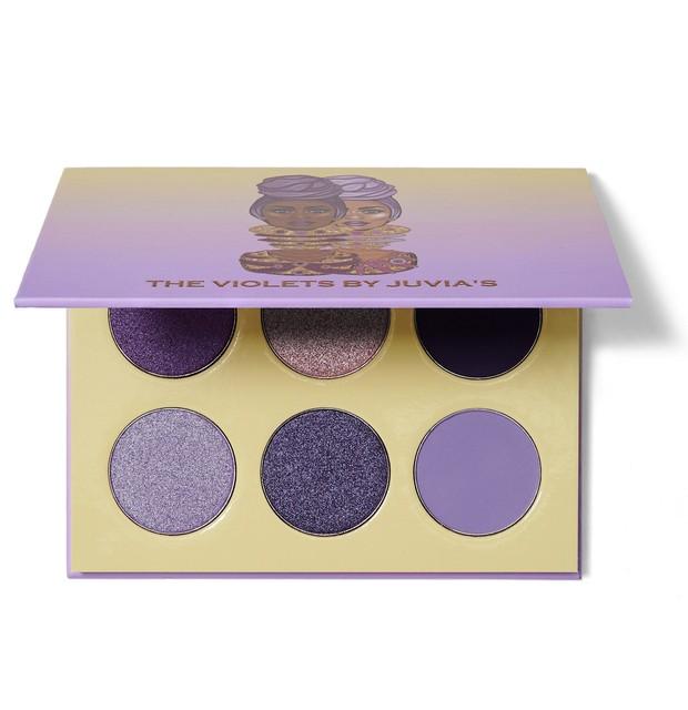 Palet eyeshadow ungu Violets dari Juvia's siap untuk menambahkan warna yang sempurna pada setiap tampilan eyeshadow.