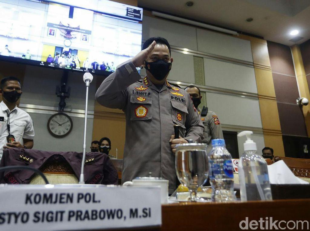 Diantar Idham Azis, Komjen Sigit Uji Calon Kapolri di DPR