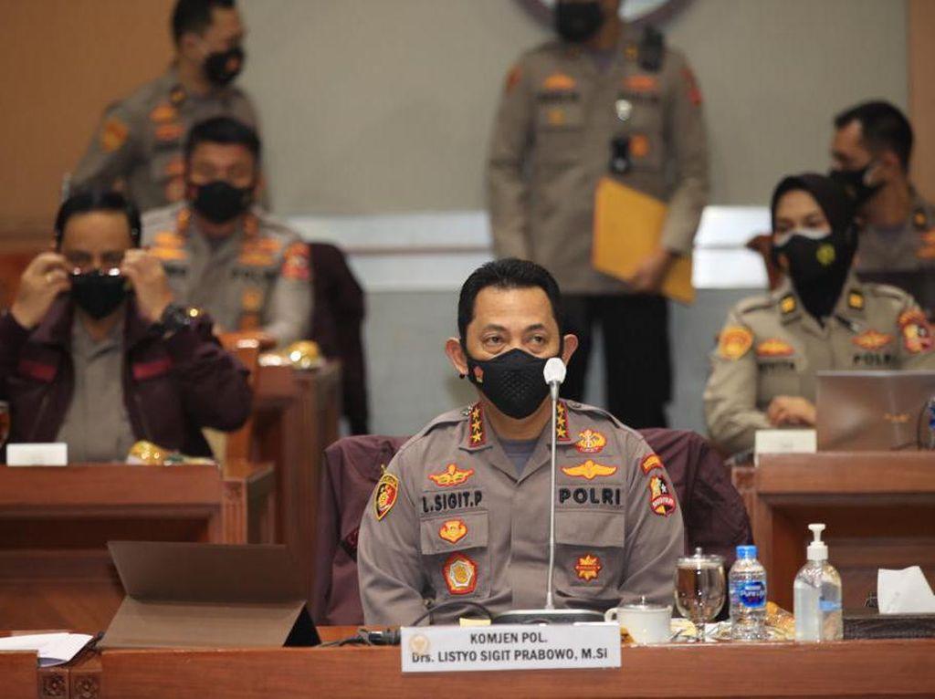 Ini 7 Jenderal dan 1 Kapolres yang Kawal Komjen Sigit di DPR