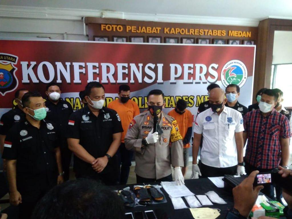 Simpan Sabu dalam Sandal untuk Dibawa ke Kendari, 4 Pria Ditangkap di Medan
