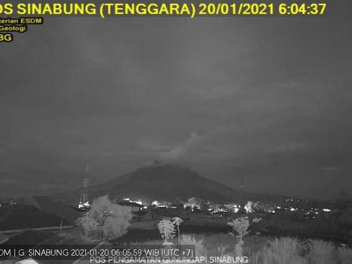 Pengamatan erupsi Gunung Sinabung tanggal 20 Januari 2021