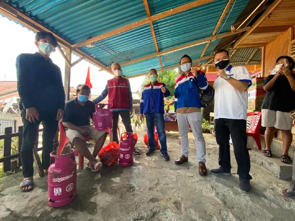 Pertamina Beri Bantuan Rp 76 Juta untuk Korban Longsor di Manado