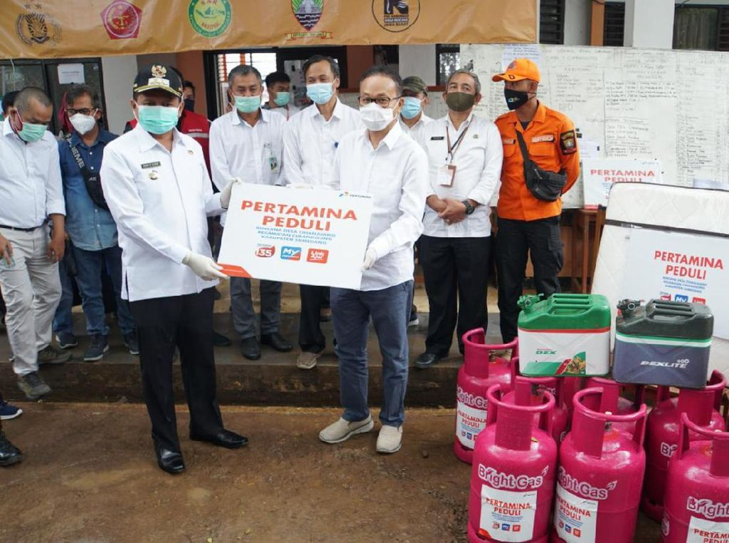 Bupati Apresiasi Bantuan Pertamina untuk Korban Longsor Sumedang
