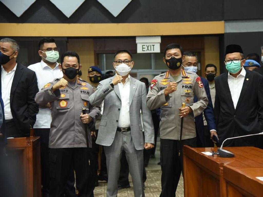 Hadapi Uji Calon Kapolri, Komjen Listyo Diantar Jenderal Idham Azis