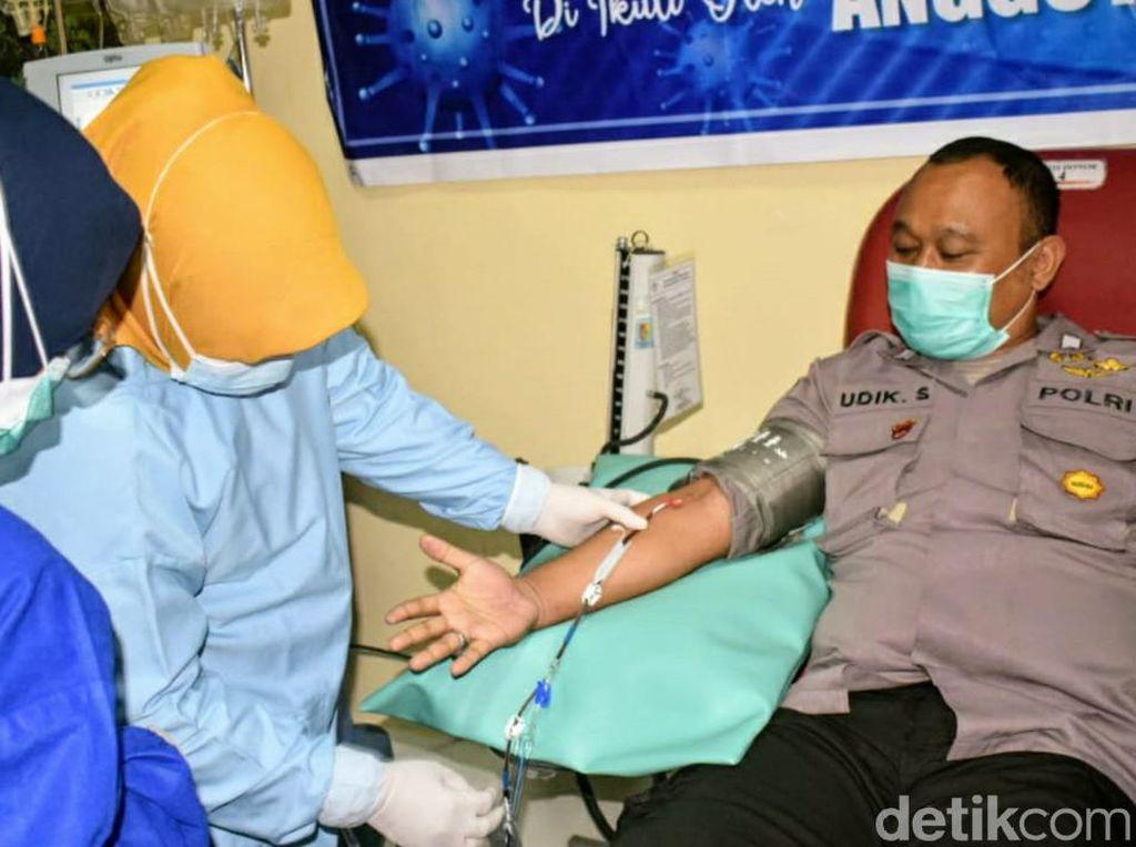 Anggota Polisi Bondowoso Alumni COVID-19 Donor Plasma Konvalesen