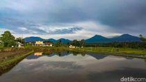 Warga di Kaki Gunung Raung Waspada Meski Tak Ada Hujan Abu