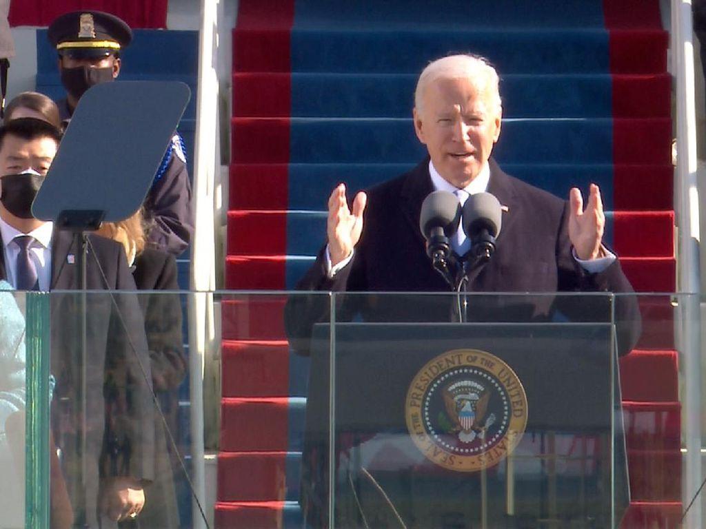 Social Distancing di Tengah Momen Sumpah Joe Biden