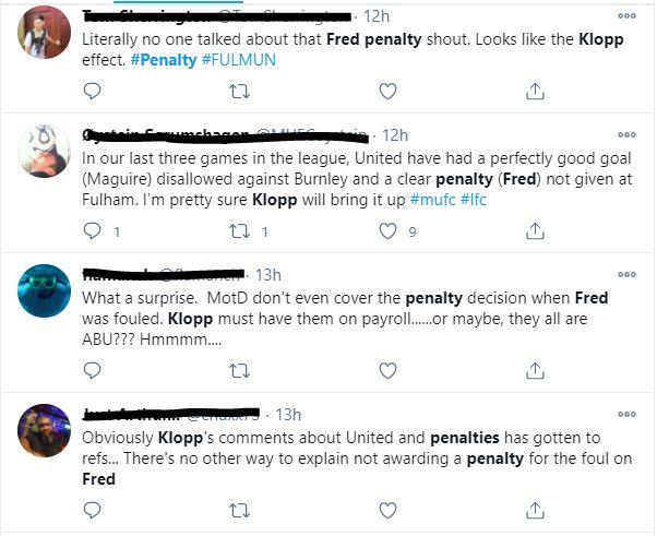 Beberapa penggemar Manchester United menyalahkan Juergen Klopp di Twitter.