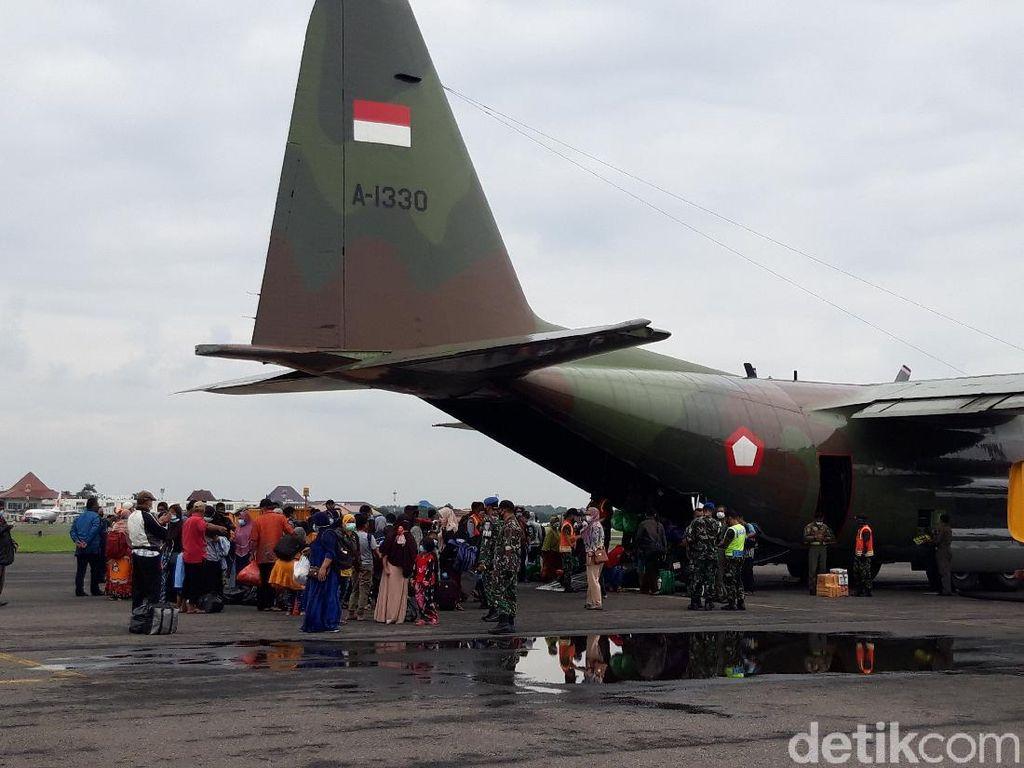 Diangkut Pesawat Hercules, Korban Gempa Sulbar Asal Jateng Tiba di Solo
