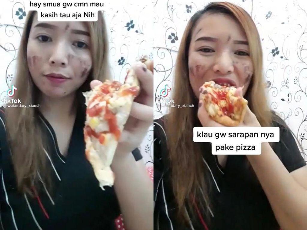 Pamer Sarapan Pizza, Wanita Ini Sebut Netizen Kampungan