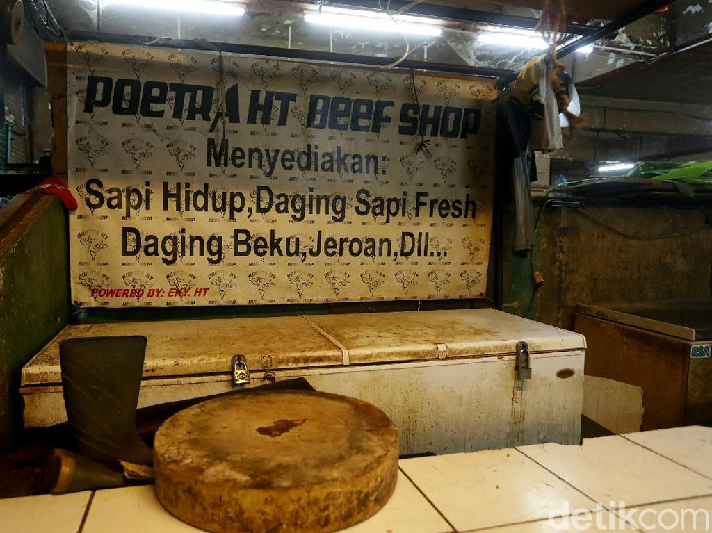 Pasar Palmerah Sepi Gagara Pedagang Daging Sapi Mogok Jualan