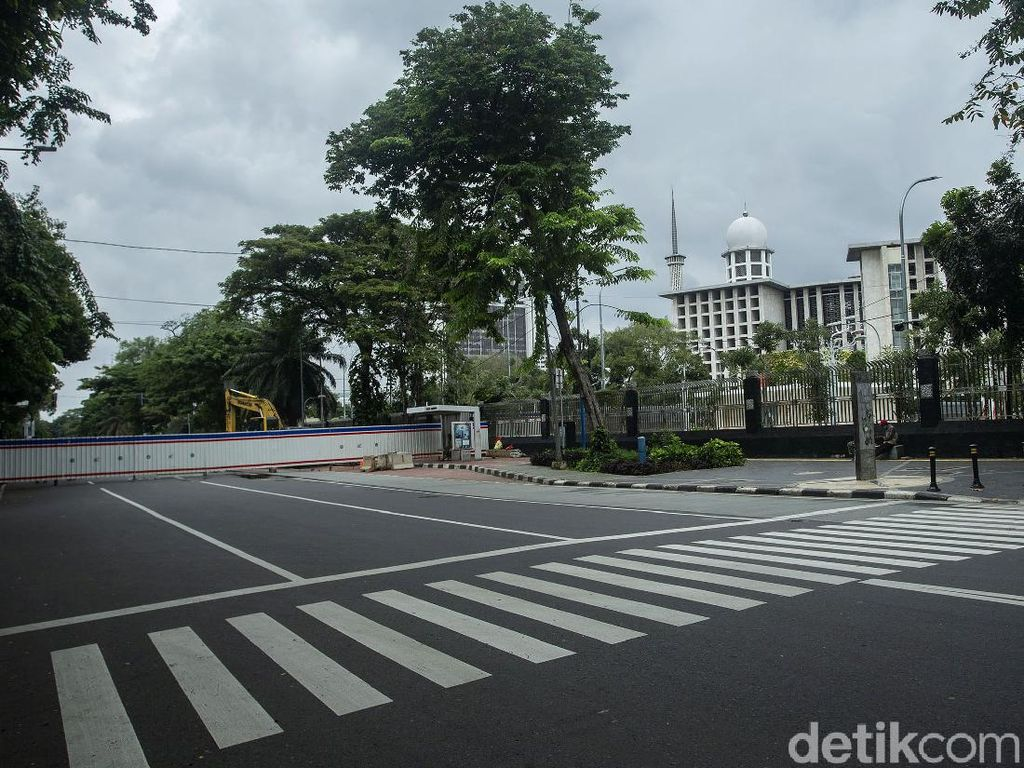 Terowongan Silaturahmi Dibangun, Lalin di Istiqlal-Katedral Dialihkan