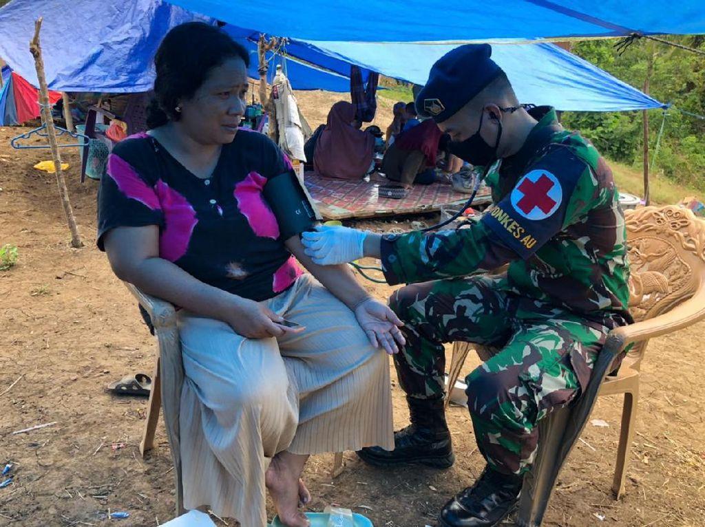 Aksi Tanggap TNI AU Beri Layanan Kesehatan ke Korban Gempa Sulbar