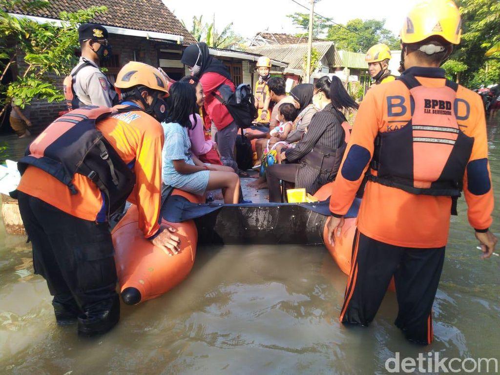 Hujan Selama 2 Hari, Ketinggian Banjir di Bojonegoro 80 Cm hingga 1 Meter