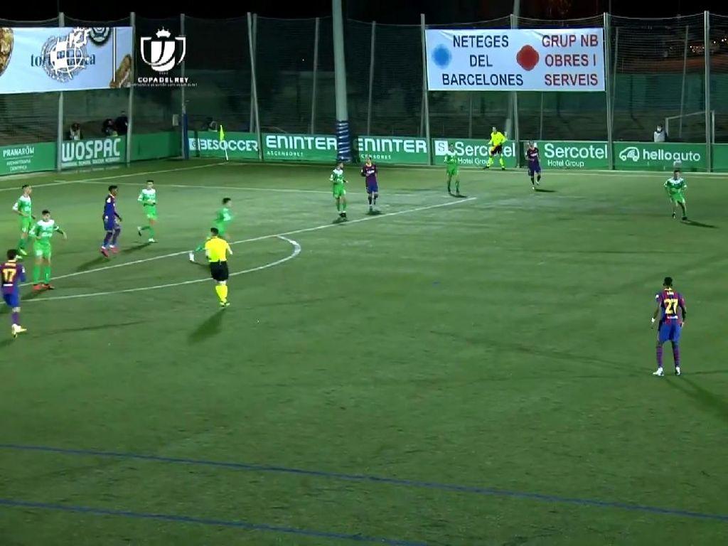 Video Cuplikan Gol-gol Cornella Vs Barcelona di Copa del Rey