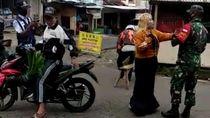 Viral Video Emak-emak Ngamuk Ditegur TNI Gegara Tak Bermasker