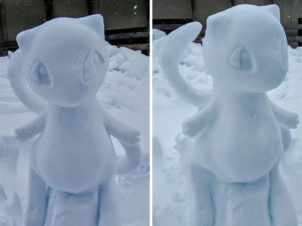 Super Keren! Seniman Jepang Bikin Patung Anime dari Salju