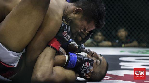 Kancah MMA Dalam Olahraga Tarung Indonesia. CNN Indonesia/Adhi Wicaksono