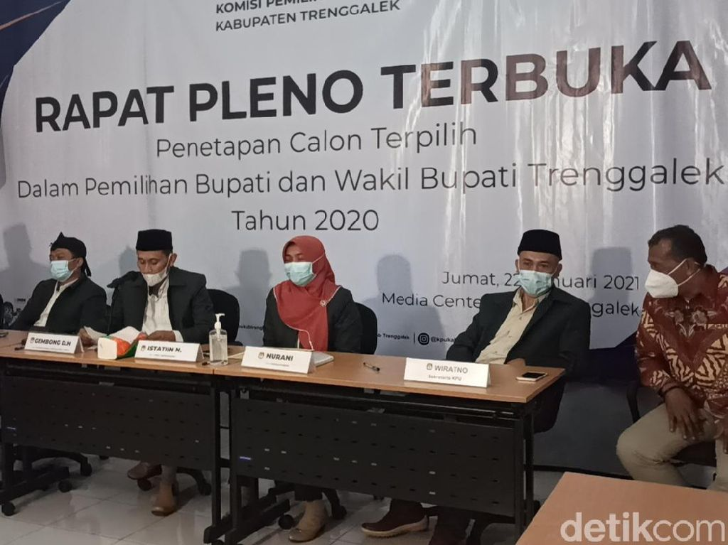 KPU Tetapkan M Nur Arifin Sebagai Bupati Trenggalek Terpilih