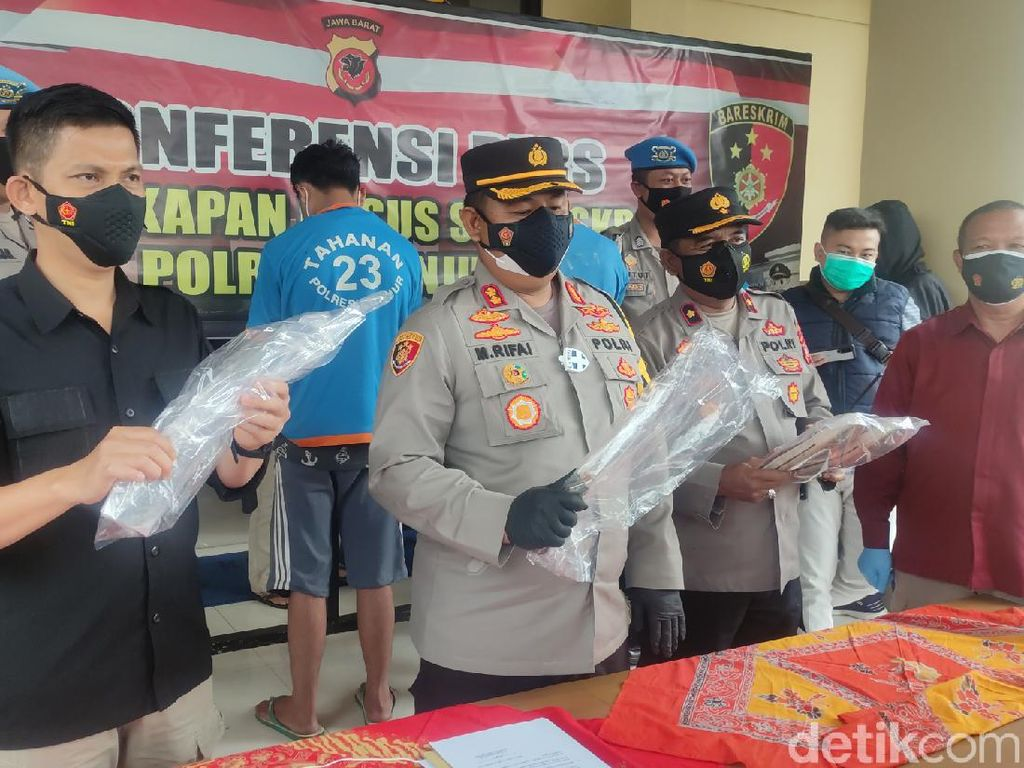 Pelaku Pembacokan Pemotor di Cianjur Ditangkap