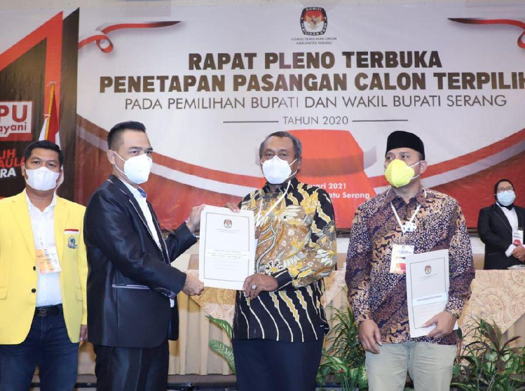 KPU Tetapkan Tatu-Pandji Jadi Pemimpin Kabupaten Serang Terpilih