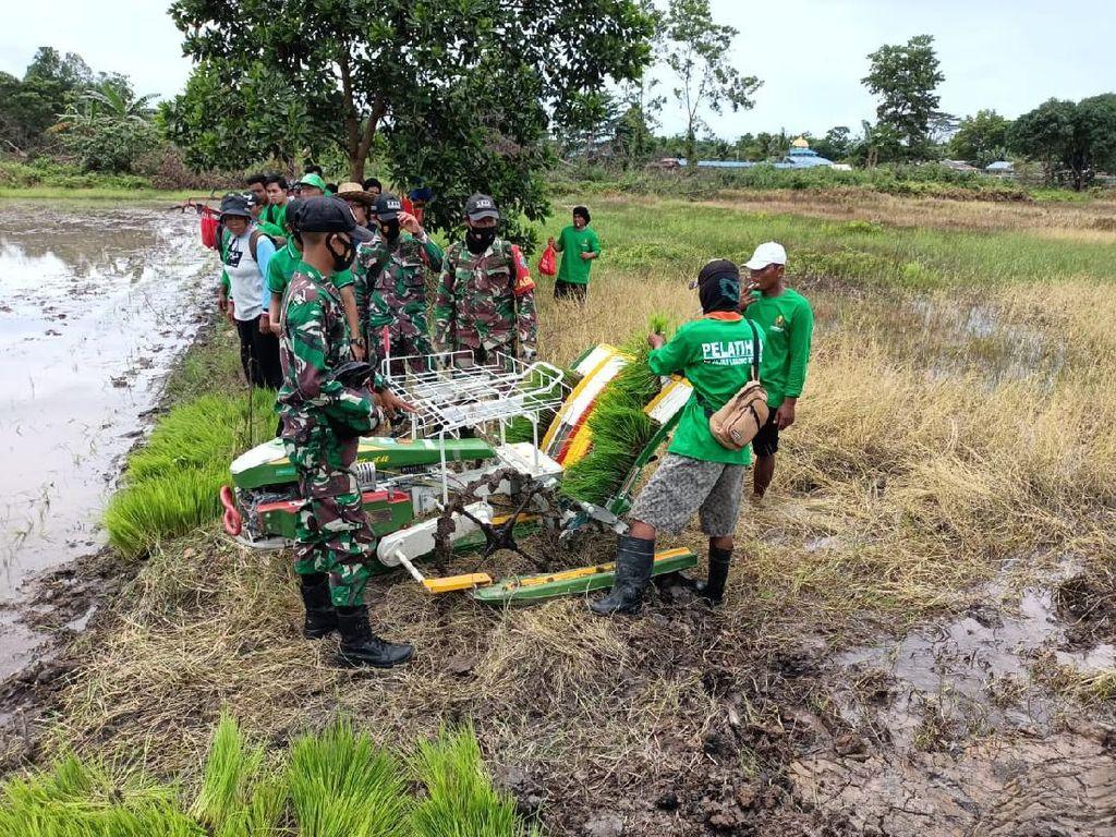 Kemhan Pastikan Program Lumbung Pangan Sudah Berjalan di Sumut & Kalteng