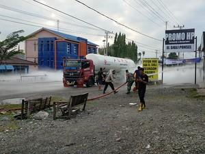 Tangki Truk Pengangkut Elpiji Bocor di Aceh, Gas Keluar-Lalin Dialihkan