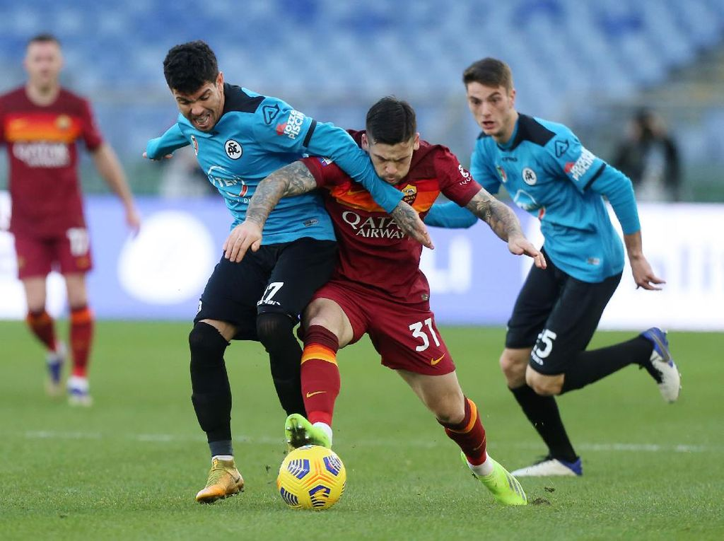 AS Roma Vs Spezia: Serigala Menang Dramatis 4-3
