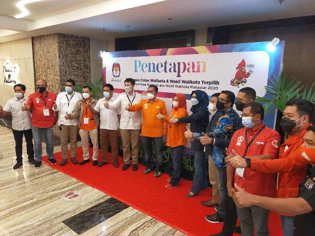 KPU Tetapkan Danny Pomanto-Fatmawati Rusdi Pemenang Pilwalkot Makassar