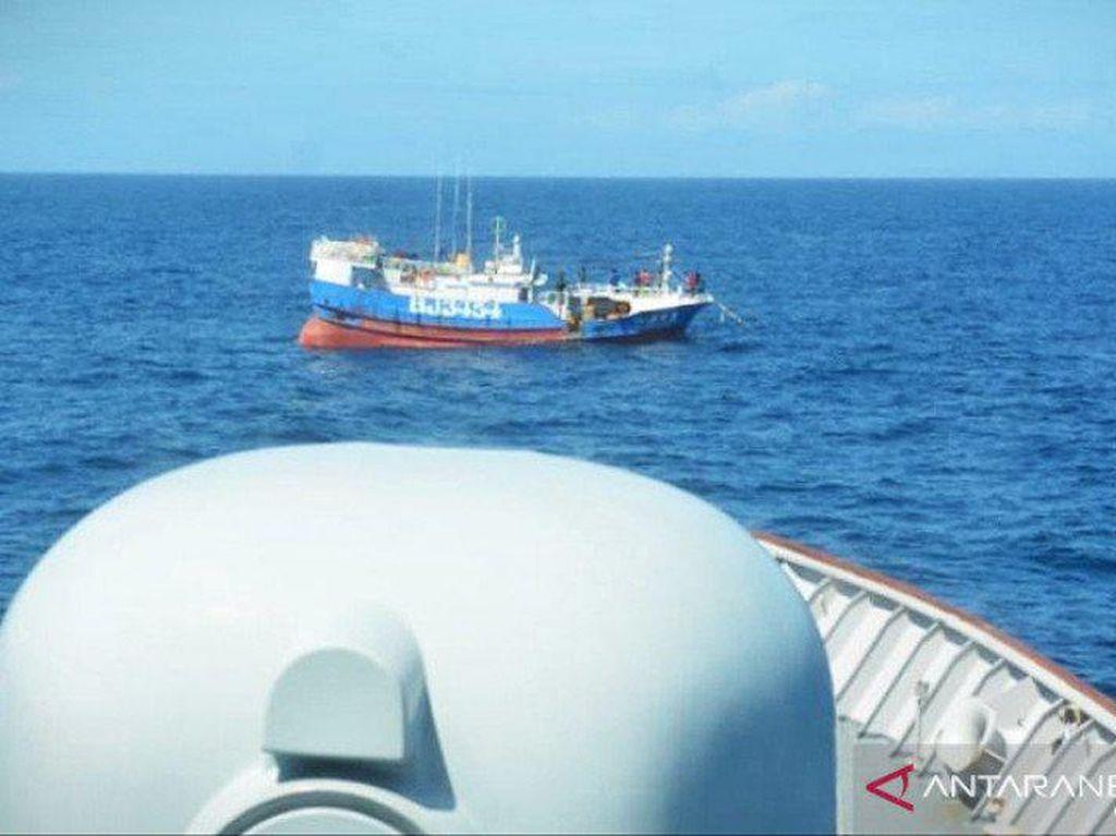 TNI AL Tangkap Kapal Taiwan Pelaku Illegal Fishing di Laut Natuna Utara