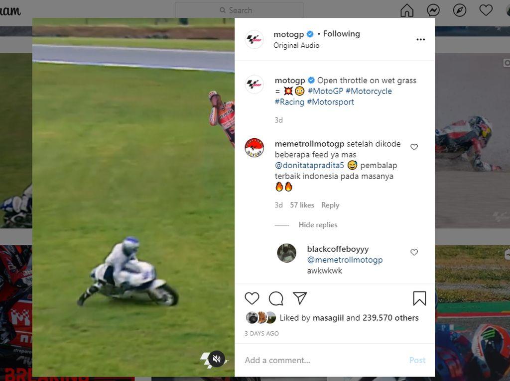 Aksi Kocak Pebalap Indonesia Viral di Instagram MotoGP