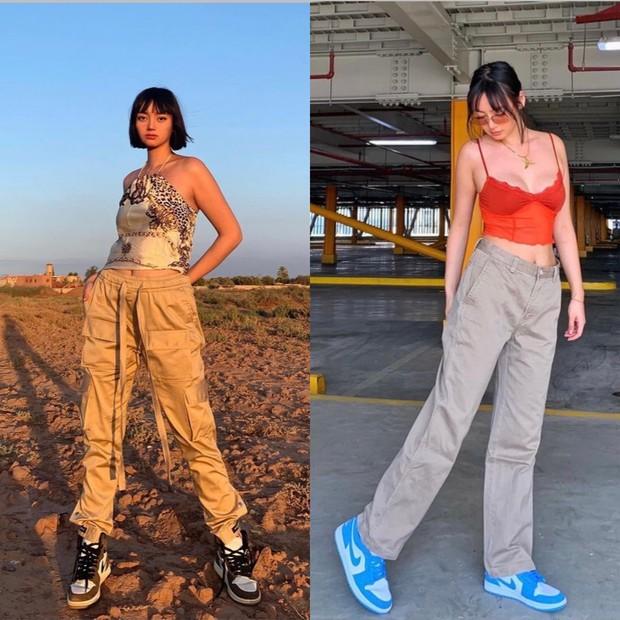 Sneakers yang menjadi fashion item favorit Nika.