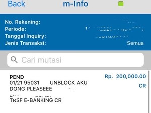 Viral Pria Berkali-kali Transfer M-Banking Demi Kirim Pesan Maaf ke Pacar