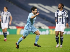West Brom Vs Man City: The Citizens Unggul 4-0 di Babak I