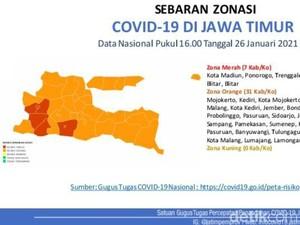 Diberlakukan PPKM JIlid 2, Ada Tujuh Kabupaten/Kota di Jatim Zona Merah