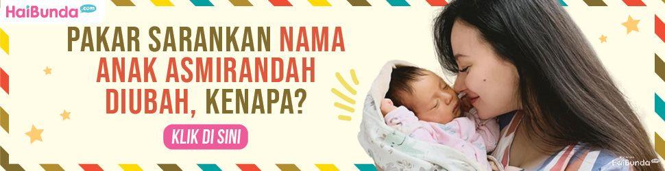 Banner nama anak Asmirandah