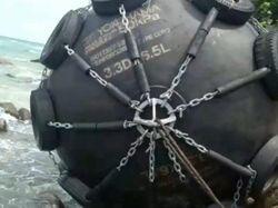 Ini Dapra, Bola Hitam Besar Terdampar di Pantai Kepri