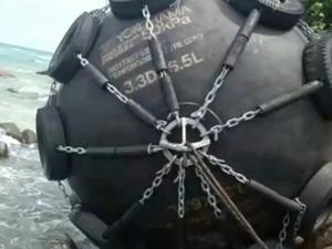 Bola Hitam Besar Bertulisan Yokohama 50KPa di Bintan, TNI: Diduga Dapra
