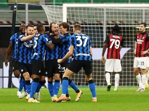 Inter Milan Vs AC Milan: Ibra Kartu Merah, Nerazzurri Menang Dramatis 2-1