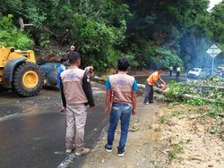 Jalan Bengkulu-Kepahiang Sempat Terputus karena Tertimbun Longsor