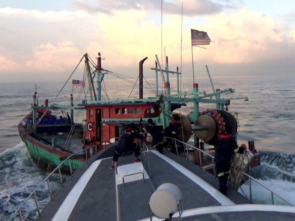 KKP Tindak 8 Kapal Pelanggar Ketentuan Operasional di Laut Natuna