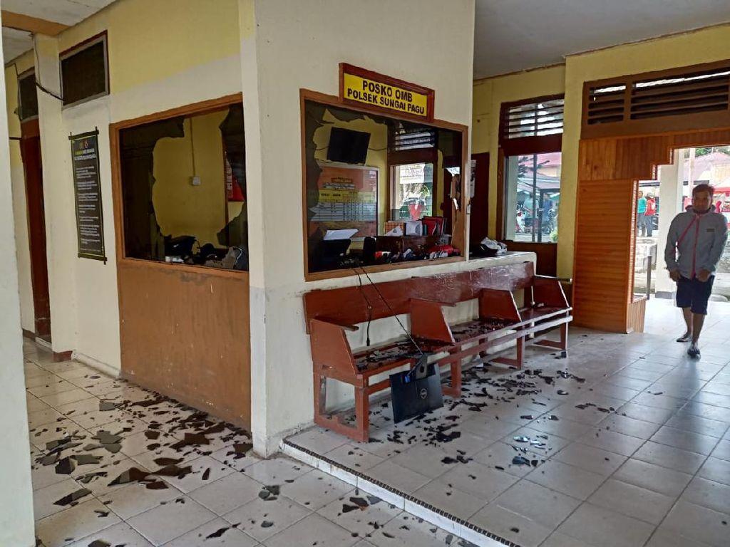 Kronologi dan Pemicu Polsek Sungai Pagu Solok Selatan Diserang Massa