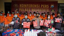 25 Budak Narkoba di Mojokerto Diringkus, Polisi Juga Usut Pencucian Uangnya