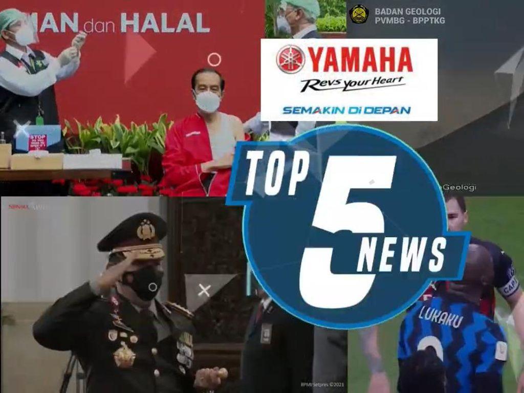 Jokowi Disuntik Vaksin Tahap II hingga Gunung Merapi Erupsi Besar