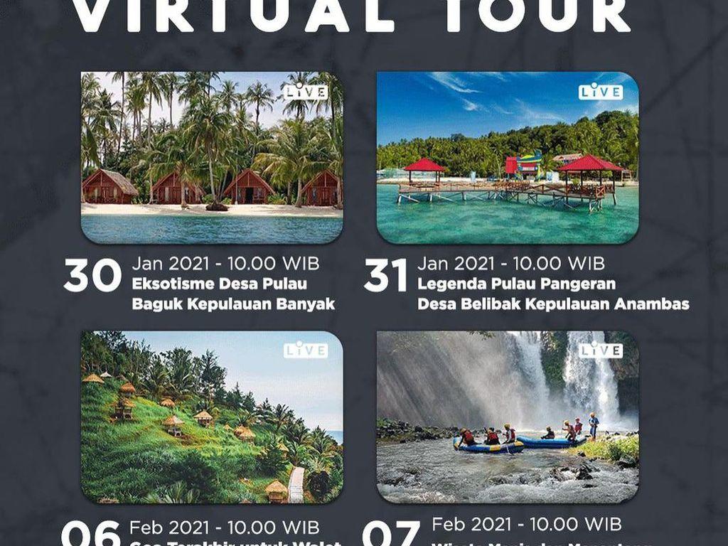 Catat, Ini Jadwal Tur Virtual ke Surga Tersembunyi di Indonesia
