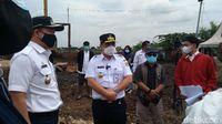 Wagub DKI Tinjau Lahan untuk Pemakaman Covid-19 di Rorotan