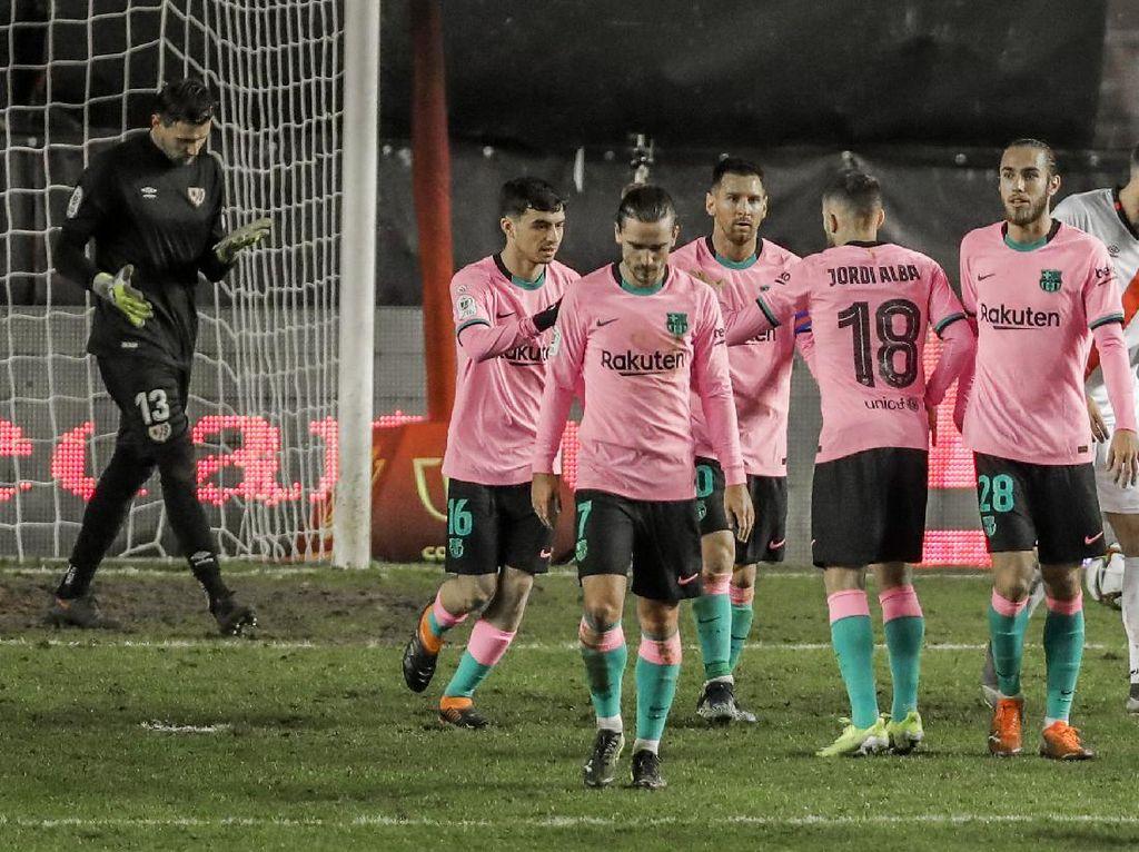 Rayo Vallecano Vs Barcelona: Sempat Tertinggal, Messi dkk Menang 2-1